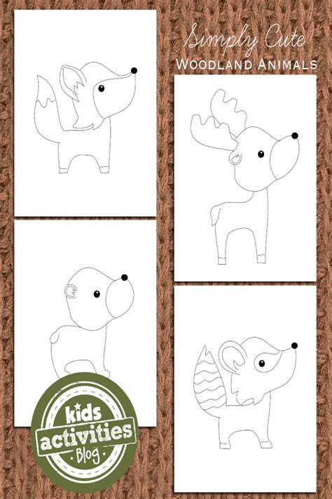 woodland animal coloring pages  kids kids activities blog