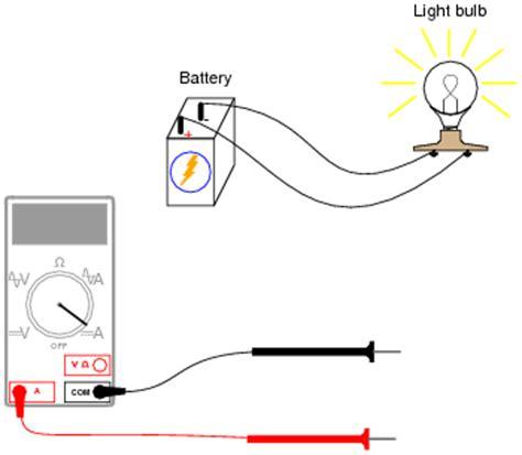 Basic Ammeter Use Electricity Worksheets