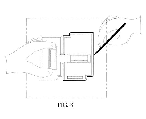 Work Box Template by Patent Us6434848 Template For Scribbing Electrical Box