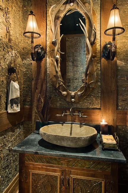 cabin themed decor rustic bathroom ideas with unique design this for all 1908
