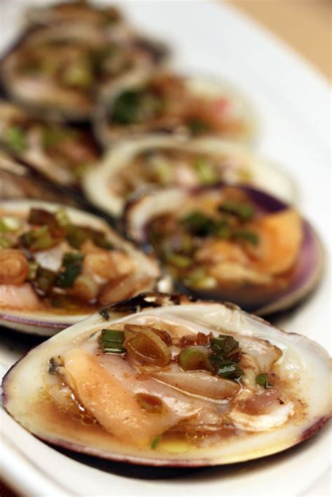 jacques cuisine top neck clams with vinegar and scallion sauce jacques