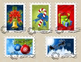 Christmas Postage Stamp Clip Art