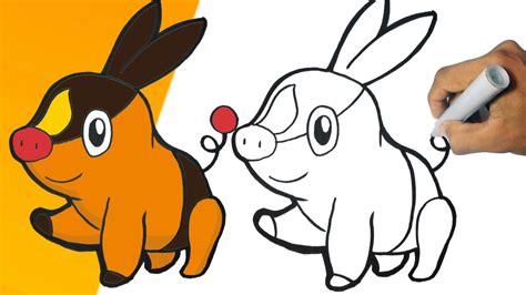 Como Dibujar A Tepig (pokemon) Paso A Paso