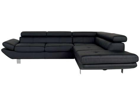 canape angle noir conforama canapé d 39 angle fixe droit 5 places loft coloris noir en pu