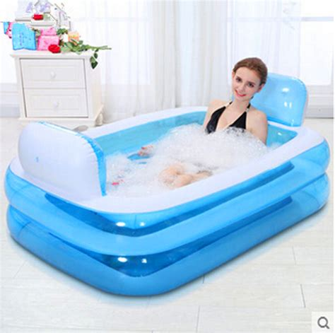 inflatable bathtub folding bath tub thickening adult tub