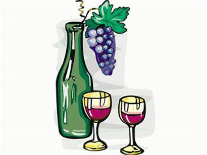 Wine Clip Clipart Glasses Grapes Bottle Champagne