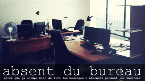 message absence du bureau absent du bureau