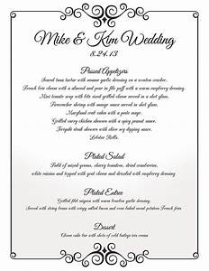 nyc wedding caterer thomas olivers gourmet catering With examples of wedding menu cards