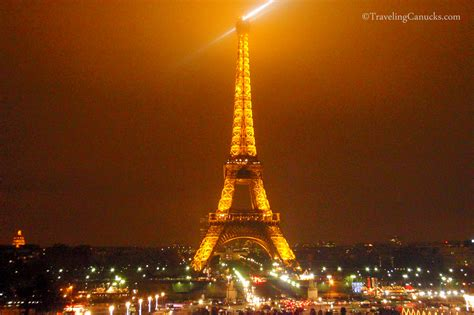 eiffel tower light show  paris france