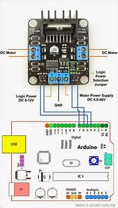Electrical Engineering World  2a Dual Motor Controller Sample Diagram