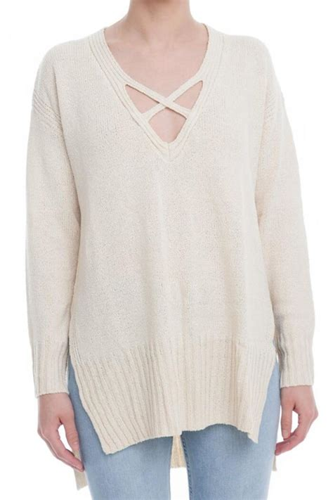 criss cross sweater lush criss cross sweater from california by tiger 39 s