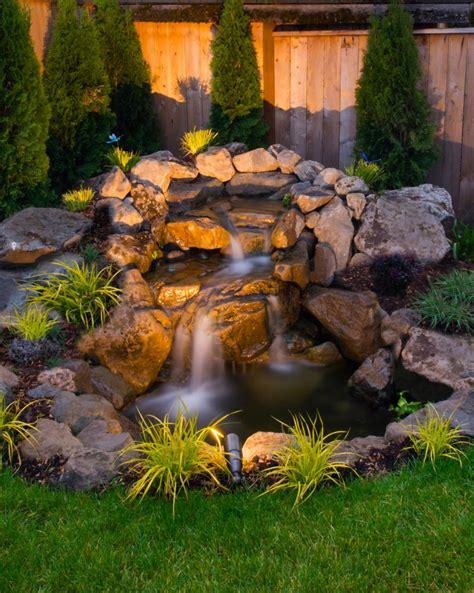relaxing garden  backyard waterfalls digsdigs