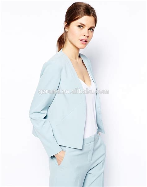 light blue suit womens 2015 latest fashion from china high quality women coat