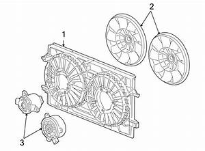 Saturn Aura Engine Cooling Fan Motor  Left  Liter