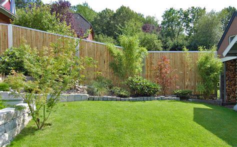 Sichtschutz Garten Bambuszaun by Bambuszaun Und Sichtschutz Bambusbasis