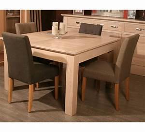 Table Chene Blanchi : table carree avec allonge ch ne massif stockholm naturel 3118 ~ Teatrodelosmanantiales.com Idées de Décoration