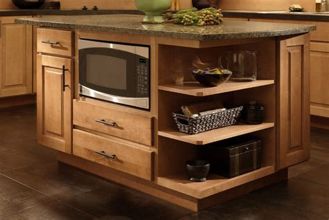 microwave in island cabinet where to put the microwave in your kitchen