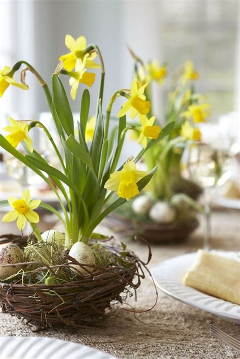 beautiful easter flower table arrangements