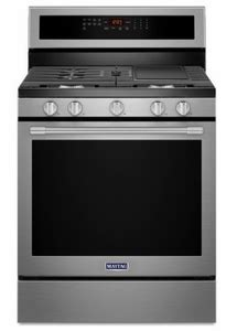 package  maytag appliance package  piece appliance package  gas range stainless steel