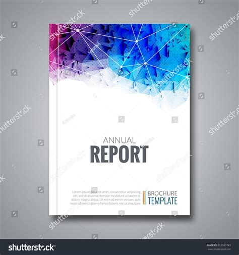 cover report business colorful triangle polygonal stock