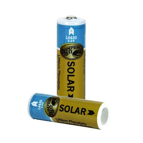hton bay lithium phosphate 400mah solar rechargeable