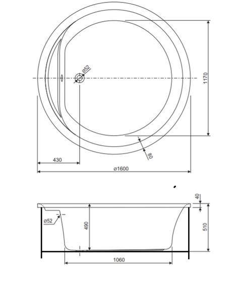 vasche da bagno rotonde vasca rotonda 160 pannellata