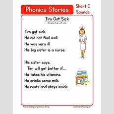This Reading Comprehension Worksheet  Tim Got Sick Is For Teaching Reading Comprehension Use