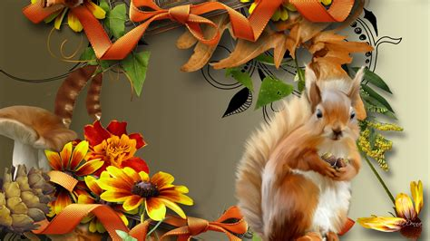 Autumn Animal Wallpaper - autumn desktop wallpaper with animals pictures to pin on