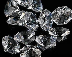Pkg Of 24 Clear 25 Carat Acrylic Diamonds With Super Big