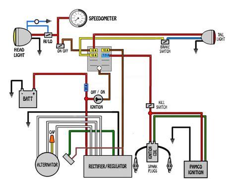 Wire Diagram 1975 Kz400 by Caf 233 Racer Wiring Bikebrewers
