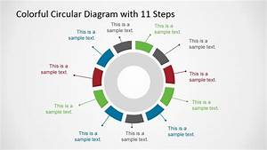 Colorful 11 Steps Circular Diagram For Powerpoint