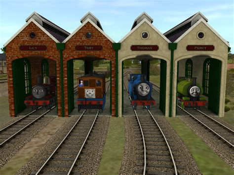The Tidmouth Sheds by Tidmouth Branch Sheds Finished By Wildnorwester On