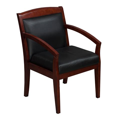 industries used wood side chair black leather