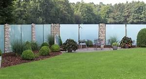 Natürlicher Sichtschutz Garten : glaszaun f r garten und terrasse glasprofi24 ~ Watch28wear.com Haus und Dekorationen