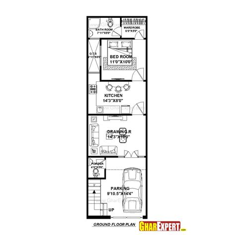 house plan for 15 by 50 plot plot size 83 square yards gharexpert arc