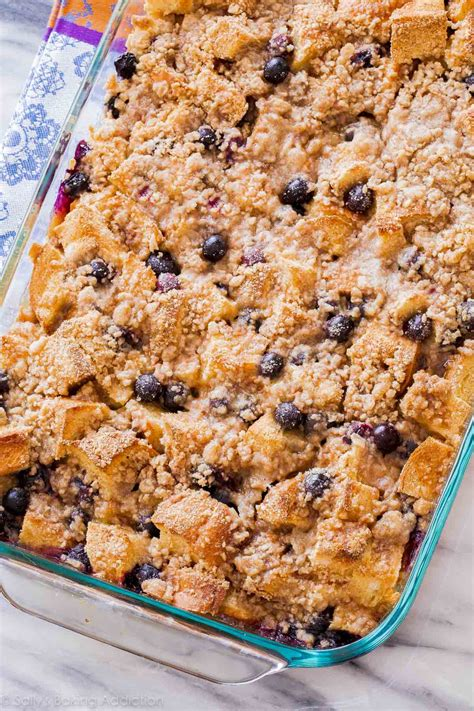 Unbelievable Blueberry French Toast Casserole Sally