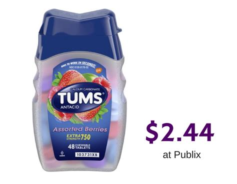 Tums Antacid Tablets, $2.44 at Publix :: Southern Savers