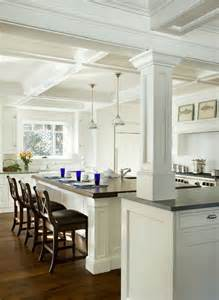Stand Alone Kitchen Island by Columns Inside And Outside The House