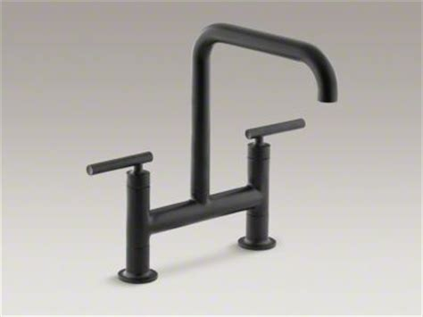 Kohler Purist Bridge Faucet by Kohler Purist Matte Black Bridge Kitchen Faucet Hardware