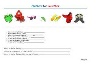 Weather Clothes Worksheet