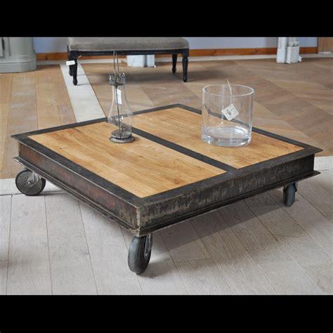 table cuisine style industriel table basse style industriel fabrication artisanale