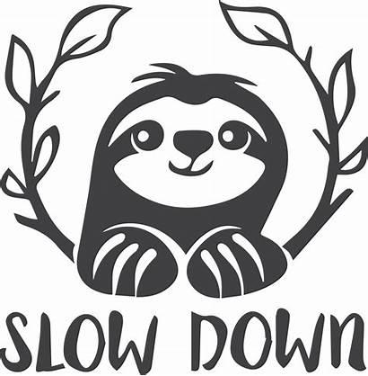 Sloth Svg Silhouette Cut Down Slow Cricut