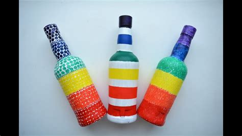 craft ideas for bottles glass bottle craft ideas diy bottle decoration ideas 6132