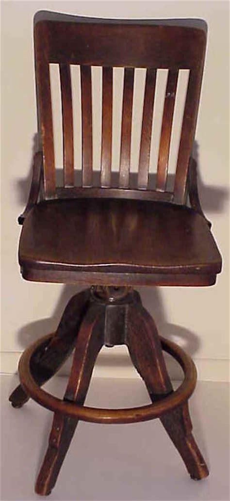 a solid oak desk chair circa 1900 for sale antiques