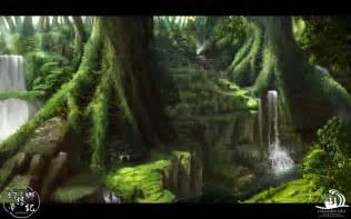 tree of rings ファンタジー イラスト 森に棲む者達の住まい 幻想 画像 ファンタジー イラスト 森に棲む者達の住まい 幻想