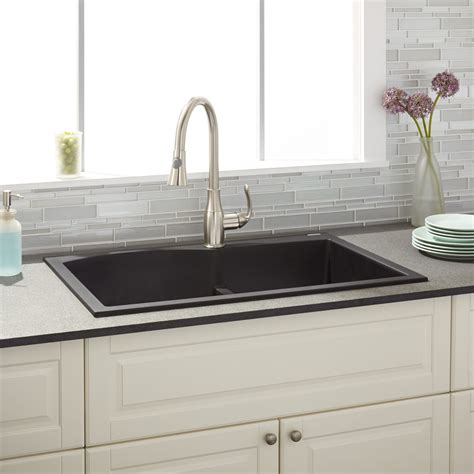 33 quot walland 60 40 bowl drop in granite composite