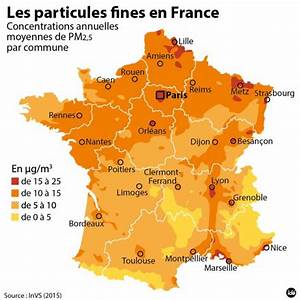 Carte France Pollution : la carte de la pollution aux particules fines en france ~ Medecine-chirurgie-esthetiques.com Avis de Voitures
