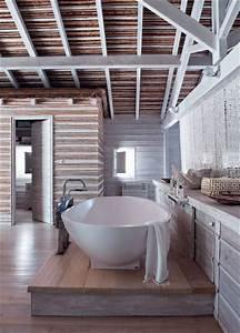 salle de bains avec poutres 6 photos deco a decouvrir With commentaire peindre des poutres en blanc 6 deco un art de vivre