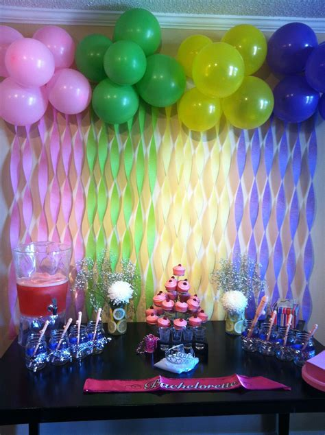 decoration balloon ideas 23 balloon decorations coordinating colors streamers and bachelorette parties