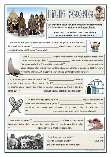 inuit people   worksheet  esl printable
